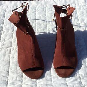 Franco Sarto Peep Toe Booties